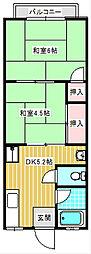 シティハイム森崎[202号室]の間取り