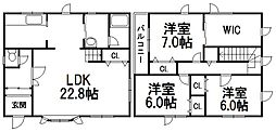 [一戸建] 北海道札幌市南区常盤五条2丁目 の賃貸【北海道 / 札幌市南区】の間取り