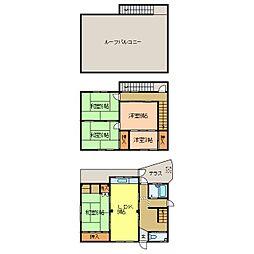 [一戸建] 大阪府河内長野市上田町 の賃貸【/】の間取り