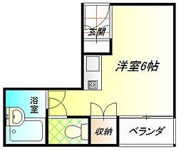 Uハイム[3階]の間取り