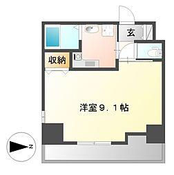 HF久屋大通レジデンス[4階]の間取り