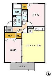 ポラリス 1[2階]の間取り