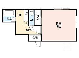 ロイヤルハイツイマダ[3階]の間取り
