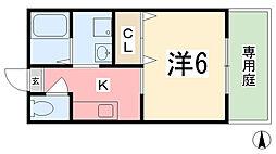 兵庫県姫路市書写の賃貸アパートの間取り