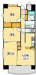 エマーブル斎藤[1階]の間取り
