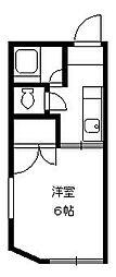 東京都中野区中野3丁目の賃貸アパートの間取り