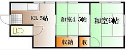 吉川アパート[1号室号室]の間取り