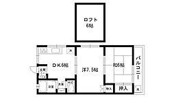 メゾンド広田[203号室]の間取り