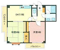 埼玉県さいたま市南区南浦和1丁目の賃貸マンションの間取り