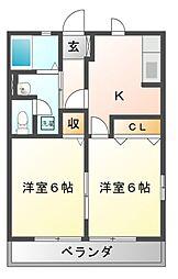 メゾン駒生[1階]の間取り
