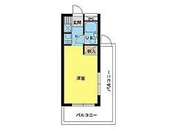 スカイコート生田[1階]の間取り