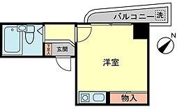 ロワール横浜[207号室]の間取り
