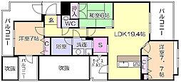 ランドゥール城南の杜[4階]の間取り