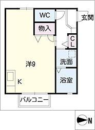 ディアス彩[1階]の間取り