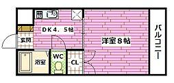 サンライフ古川[2階]の間取り