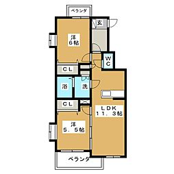 セントルシア[4階]の間取り