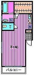 プチィフルール[2階]の間取り