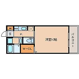 兵庫県尼崎市梶ケ島の賃貸アパートの間取り