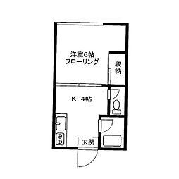 本郷ハウス[1階]の間取り