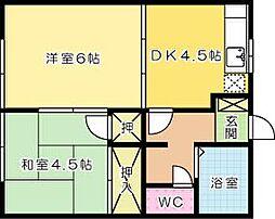 福岡県北九州市小倉北区緑ケ丘1丁目の賃貸アパートの間取り