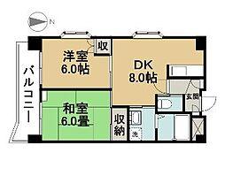 東京都江戸川区中葛西7丁目の賃貸マンションの間取り