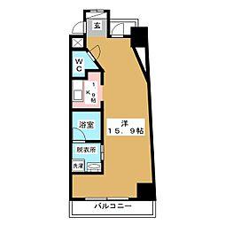 S−FORT葵一丁目[6階]の間取り