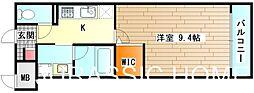 大阪府堺市北区蔵前町1丁の賃貸マンションの間取り