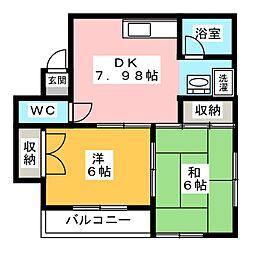 ヴィアトゥール剣崎[2階]の間取り
