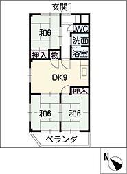 エクセル覚王山[3階]の間取り