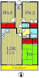 ロイヤルパレス天王台[6階]の間取り
