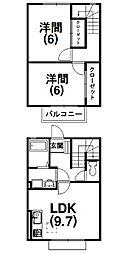 [テラスハウス] 静岡県浜松市西区神ヶ谷町 の賃貸【静岡県 / 浜松市西区】の間取り