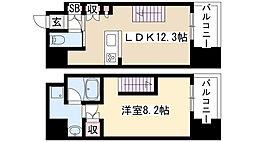 シエルブルー栄 11階1LDKの間取り