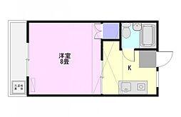 高松コーポラス[1階]の間取り