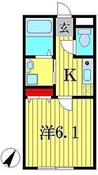 リエーヴルB棟[1階]の間取り