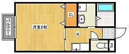 セジュール国分[1階]の間取り