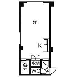 ハッピーシンドローム[1階]の間取り
