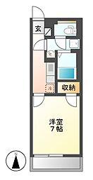 クレイノZUKA[1階]の間取り