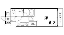 ファーストフィオーレ神戸湊町[8階]の間取り