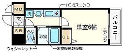 エステムコート難波センチュリオ[13階]の間取り
