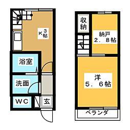 T−style江尻 1階1SKの間取り