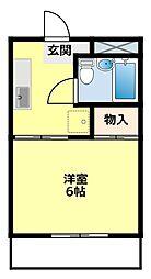愛知県豊田市宮口町1丁目の賃貸マンションの間取り