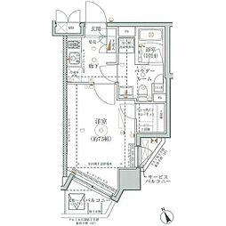 東急東横線 武蔵小杉駅 徒歩7分の賃貸マンション 4階1Kの間取り
