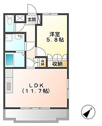 Tida Square NAMIKI[2階]の間取り