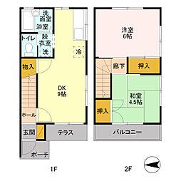 [テラスハウス] 埼玉県吉川市高富1丁目 の賃貸【/】の間取り