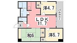 シャトー三和青山[501号室]の間取り