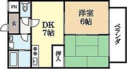 ガーデンハイツ広野[2階]の間取り