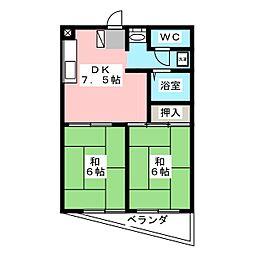 コーポすみれ[3階]の間取り