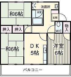 第2信和マンション[2階]の間取り