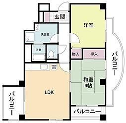 大阪府大阪市平野区西脇3丁目の賃貸マンションの間取り