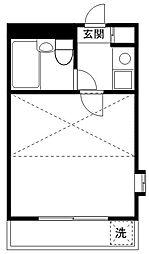 コーポマリーナ仲六郷B[2階]の間取り